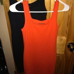 Black AND Orange Bodycon dress's